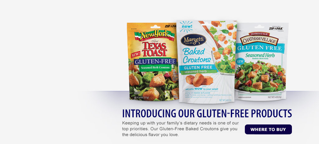 Introducing gluten free croutons from Marzetti.